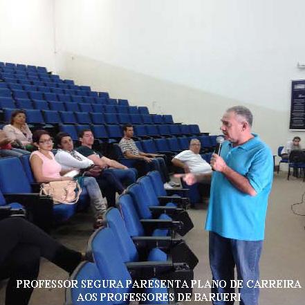 PROFESSORES DE BARUERI DISCUTEM O PLANO DE CARREIRA
