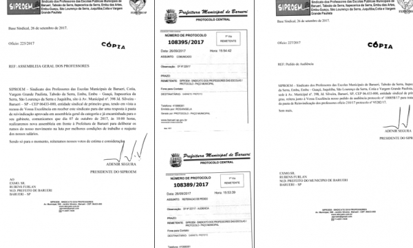 PROFESSORES DE BARUERI EM LUTA POR VALORIZAÇÃO