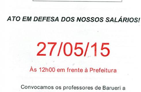 ATO EM DEFESA DOS NOSSOS SALÁRIOS!