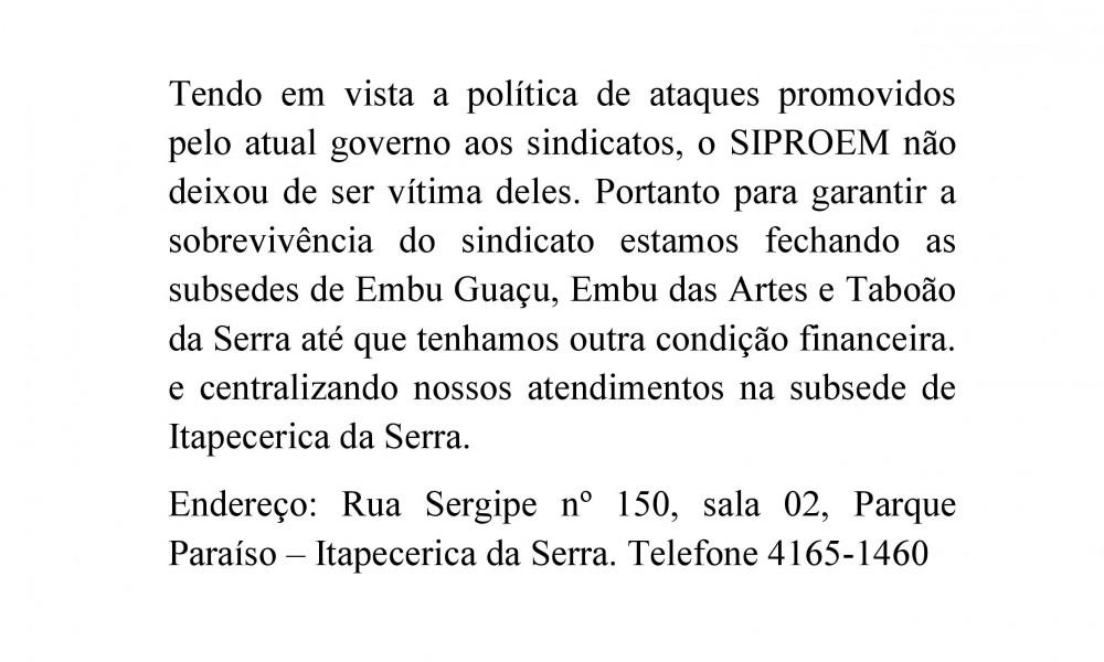 PROFESSORES DE TABOÃO, EMBU DAS ARTES E EMBU GUAÇU SERÃO ATENDIDOS EM ITAPECERICA DA SERRA