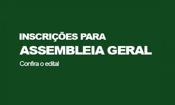 Inscrições para Assembleia Geral